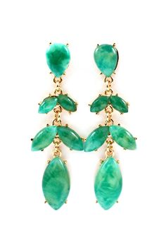 Emerald Lucite Marquise Earrings | Awesome Selection of Chic Fashion Jewelry | Emma Stine Limited