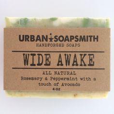 Wide Awake  Herbal Soap Cold Process Soap Lard by UrbanSoapsmith