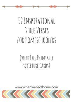 52 Inspirational Bible Verses for Homeschoolers