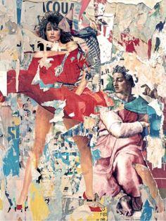 Rosso di Sera 1/5 Serum, Saatchi Art, Collage, Canvas, Painting, Tela, Collages, Painting Art, Paintings
