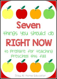 Seven Things You Should Do Right Now to Prepare for Teaching Preschool in September
