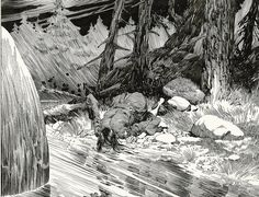 Berni Wrightson: Frankenstein Detail Comic Art
