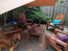 Adirondack Chairs and Table | Do It Yourself Home Projects from Ana White