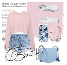 """""""Pink pullover"""" by doroshencko-daria on Polyvore featuring мода, Levi's, Vans и Lauren Ralph Lauren"""