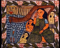 Indigo Arts Gallery | Art from Asia | Indian Folk Painting 2a