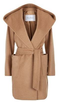 Lend a hint of timeless elegance to your outer repertoire with Max Mara's Hooded Camel Hair Coat. Crafted with pure plush camel hair, it showcases the brand's signature minimalistic aesthetic and is accented with shawl lapels, two large pockets and a belted waist.