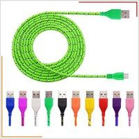 Wish | 1M/2M/3M Length Colorful Nylon Braided Micro USB Charger Cable for Samsung Galaxy S5 S6 S7 S7 edge / Android Smartphone