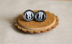 Star Wars Jedi Order Earrings - Black and White Jedi Logo