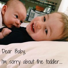Dear Second Baby, I'm sorry about The Toddler - Beauty Through Imperfection