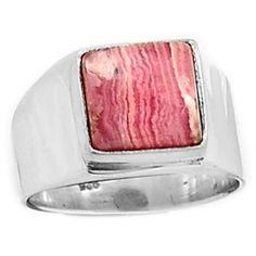 Rhodochrosite 925 Sterling Silver Ring Jewelry s.7 RDOR652 - JJDesignerJewelry