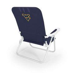 West Virginia University Monaco Portable Beach Chair w/Digital Print