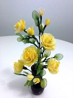 Handmade Nylon Flower Arrangements