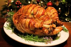 Savoir Faire: Bacon Wrapped Turkey you cannot resist! Recipe/tutorial included.