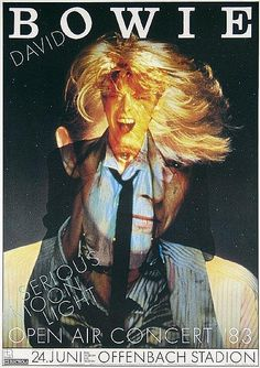 Günther Kieser, tour poster for David Bowie,1983. Germany.