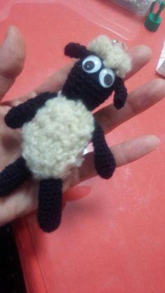 編みました。ひつじの……