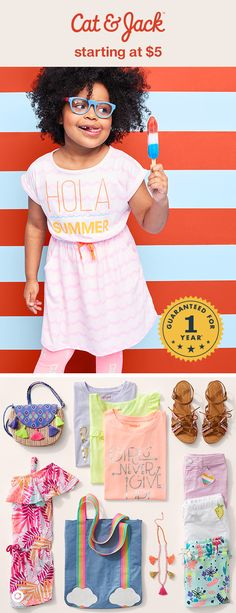 Cat & Jack's summer collection has tons of must-haves, like adorable sundresses and rompers, printed shorts, patches galore, and tassel-filled accessories. Essentials like graphic tees start at just $5, which means more money to hit the ice cream truck. And, with a 1-year guarantee, girls can layer these pieces into their wardrobe for the rest of the year, too!