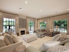 cream and beige living rooms | plan living room using beige colours with carpet & fireplace - Living ...