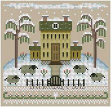The Floss Box | Winter Sheep Cross Stitch
