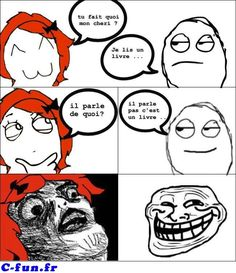 Mais oui c& vrai ! Derp Comics, Rage Comics, Funny Comics, Troll Meme, Funny French, Funny Drawings, Funny Video Memes, Crazy People, Funny Posts
