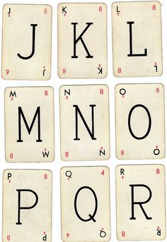 original 1930's Lexicon playing cards J-R