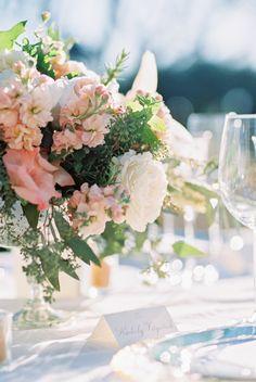 Photography : Michael + Anna Costa Photography | Floral Design : Anna Le Pley Taylor | Reception Venue : Villa Verano | Event Design + Planning : Alegria By Design (Armando Martinez) Read More on SMP: http://www.stylemepretty.com/2015/07/20/rustic-elegant-santa-barbara-summer-wedding/