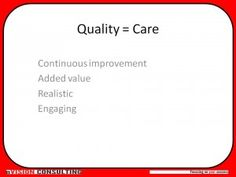 CARE - an unusual take on a definition of #quality.