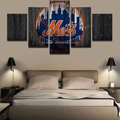 5 Piece New York Mets Logo Baseball Canvas Wall Art Painting Frames Sets New York Mets Logo, New York Mets Baseball, Canvas Wall Art, Wall Art Prints, Painting Canvas, Painting Frames, Canvas Prints, Baseball Canvas, Baseball Painting