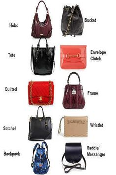 Ten types of bags you need to know Types Of Handbags, Quilting Frames, Types Of Bag, Duffel Bag, Backpacks, Shoulder Bag, Woman, Tips, Fashion Styles