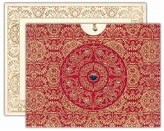 red indian wedding invite