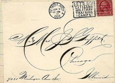 Postmarked 1927.