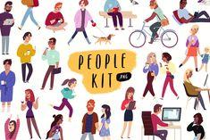 'People Kit' illustrations by Darumo Shop