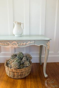 Hand Painted French Console