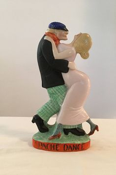 Vintage Schafer & Vater Apache Dance Figural Couple nipper