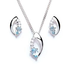 MiChic Damen-Schmuckset mit Kette und Ohrringen Silber 46cm 0871-1 - http://schmuckhaus.online/michic/michic-damen-schmuckset-mit-kette-und-ohrringen-1