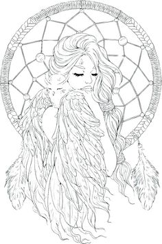 Dream Catcher Coloring Pages - Best Coloring Pages For Kids Coloring Pages Winter, Coloring Pages For Grown Ups, Fairy Coloring Pages, Printable Adult Coloring Pages, Mandala Coloring Pages, Coloring Pages To Print, Free Coloring Pages, Coloring Books, Colouring Pages For Adults
