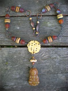 Honey and Bone Amulet Necklace by Maggie Zee | Flickr - Photo Sharing!