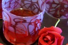 Trandafirata - Culinar.ro Syrup, Shot Glass, Candle Holders, Liqueurs, Candles, Tableware, Desserts, Food, Tailgate Desserts