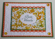 Stampin up Galant Grüße,  Sizzix, Stamping with Embossing-Folders