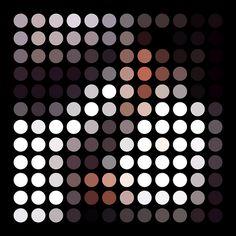 Michael Jackson's Thriller album cover as dots