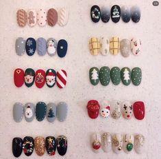48 Amazing Nail Art Designs For Christmas - Nails Nail Noel, Christmas Gel Nails, Christmas Nail Designs, Christmas Nail Art, Holiday Nails, Christmas Tree, Cute Acrylic Nails, Cute Nails, Pretty Nails