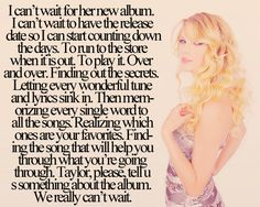 DYING FOR THE NEW ALBUM. PLEASE TAYLOR @Sam McHardy McHardy Taylor Swift