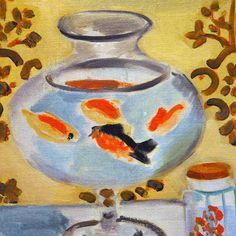 The Goldfish Bowl (detail) byHenri Matisse