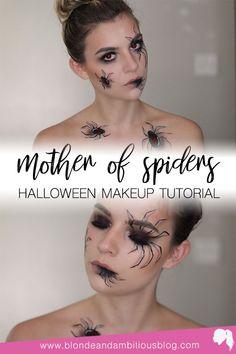 Halloween Looks, Halloween Spider, Halloween Makeup, Halloween 2019, Happy Halloween, Halloween Costumes, Spider Makeup, Spider Queen, Witch Face