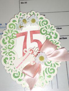 Zum 75. Geburtstag Heirloom Oval von Spellbinders