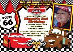 Cars Birthday Invitation MellysHandmades on Etsy
