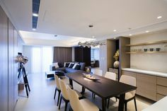 Wu' apartment-01 Conference Room, Diabetic Recipes, Interior, Table, Furniture, Home Decor, Homemade Home Decor, Indoor, Meeting Rooms