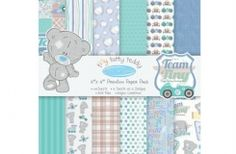 Tatty Teddy  Decorative Paper Sheets Card Making Scrapbooking Craft Supplies by ScrapbookingSupply on Artsy Central