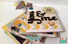 Mini de retales con Bangaboo Scrap #scrapbooking #mini #minialbum Cake, Food, Mini Albums, Food Cakes, Eten, Cakes, Tart, Cookies, Meals