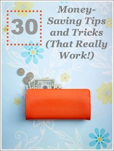 30 easy money-saving tips and tricks that really work! Money Saving Tips, #SaveMoney, Saving Money