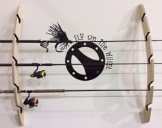 Fishing Rod Rack Built of Beetle Killed Pine por RmcCustomWoodworks